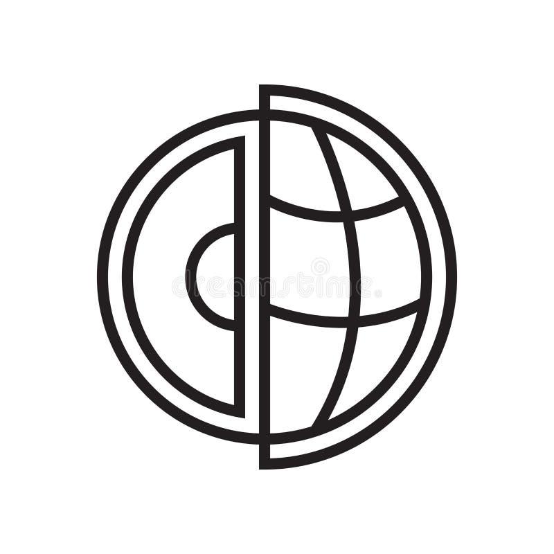 Muestra y símbolo del vector del icono de la ciencia aislados en el fondo blanco, concepto del logotipo de la ciencia stock de ilustración