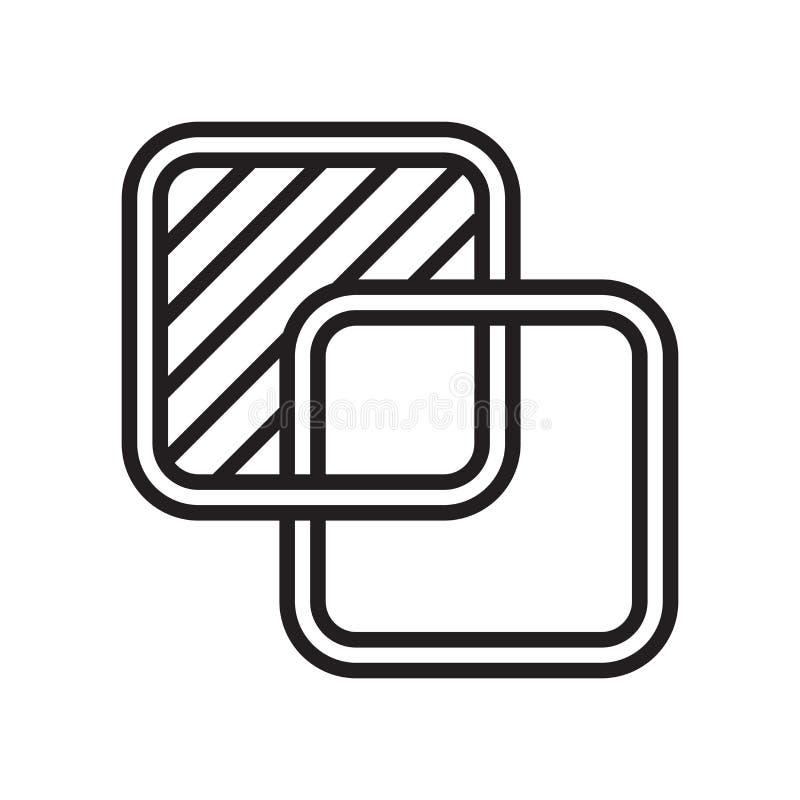Muestra y símbolo del vector del icono de la coincidencia aislados en el fondo blanco libre illustration