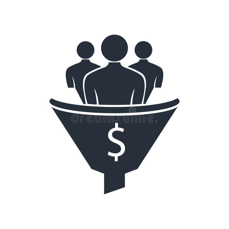 Muestra y símbolo del vector del icono de la conversión de la ventaja aislados en el fondo blanco, concepto del logotipo de la co libre illustration