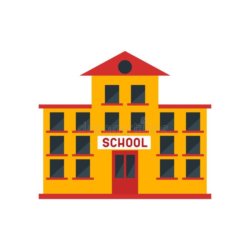 Muestra y símbolo del vector del icono de la escuela aislados en el fondo blanco, concepto del logotipo de la escuela stock de ilustración