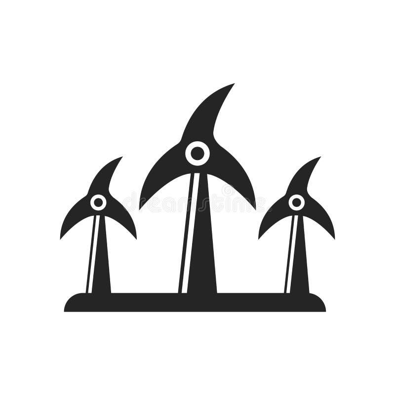 Muestra y símbolo del vector del icono de la etiqueta de la energía renovable aislados en w ilustración del vector