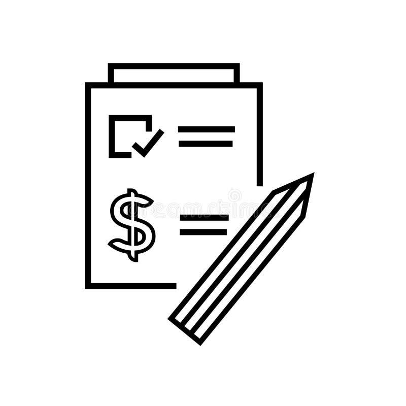 Muestra y símbolo del vector del icono de la factura aislados en el fondo blanco, concepto del logotipo de la factura ilustración del vector