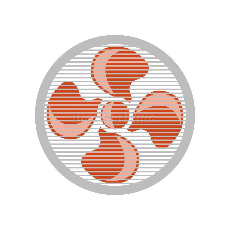 Muestra y símbolo del vector del icono de la fan aislados en el fondo blanco, concepto del logotipo de la fan libre illustration