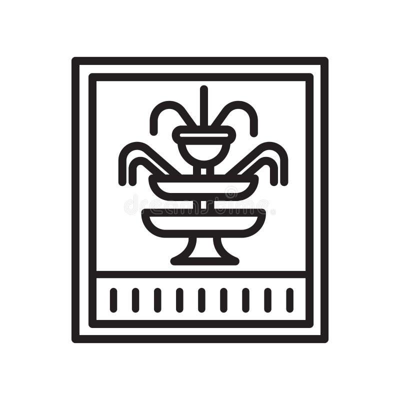 Muestra y símbolo del vector del icono de la fuente aislados en el backgroun blanco ilustración del vector