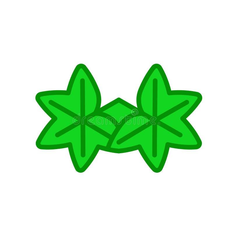 Muestra y símbolo del vector del icono de la hoja del liquidámbar aislados en b blanco libre illustration