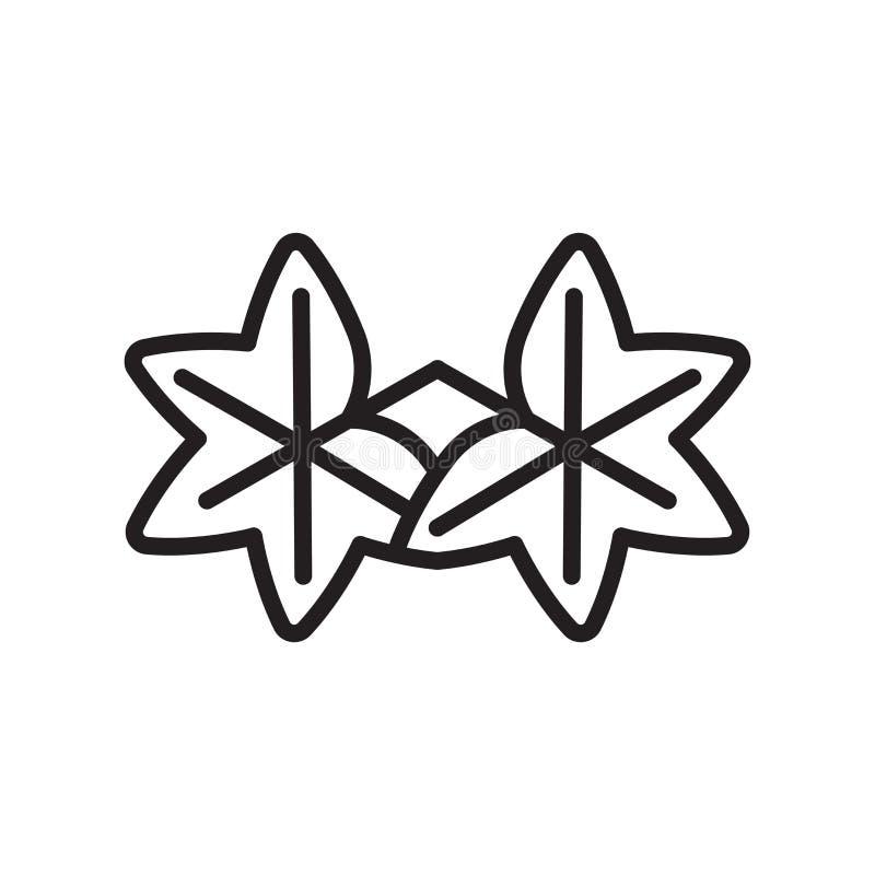 Muestra y símbolo del vector del icono de la hoja del liquidámbar aislados en b blanco stock de ilustración