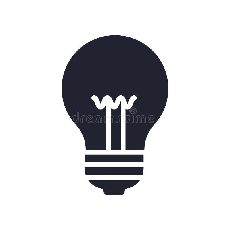 Muestra y símbolo del vector del icono de la idea aislados en el fondo blanco, concepto del logotipo de la idea ilustración del vector