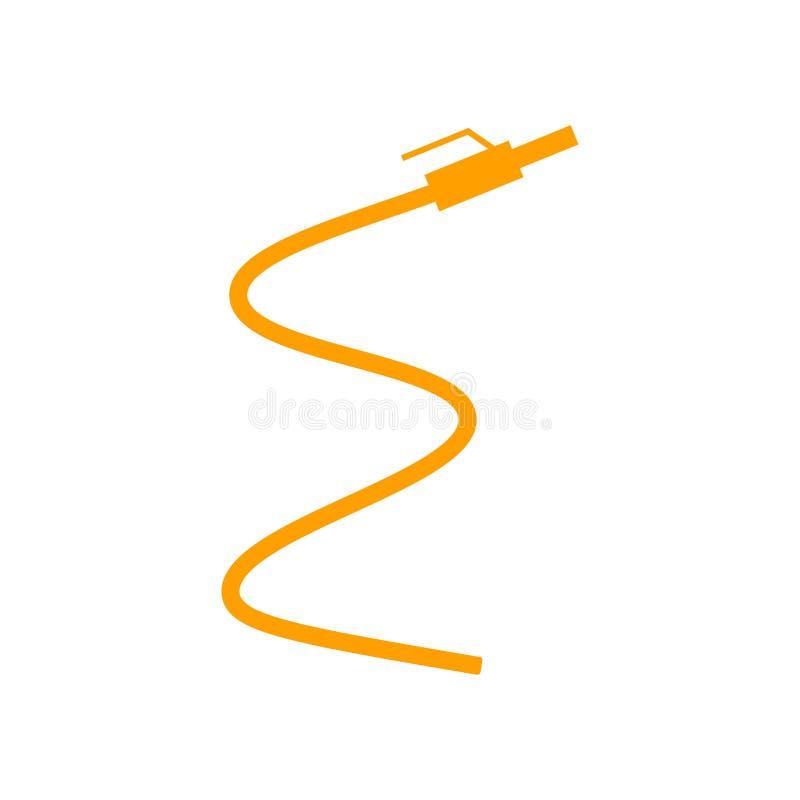 Muestra y símbolo del vector del icono de la manguera aislados en el fondo blanco, concepto del logotipo de la manguera stock de ilustración