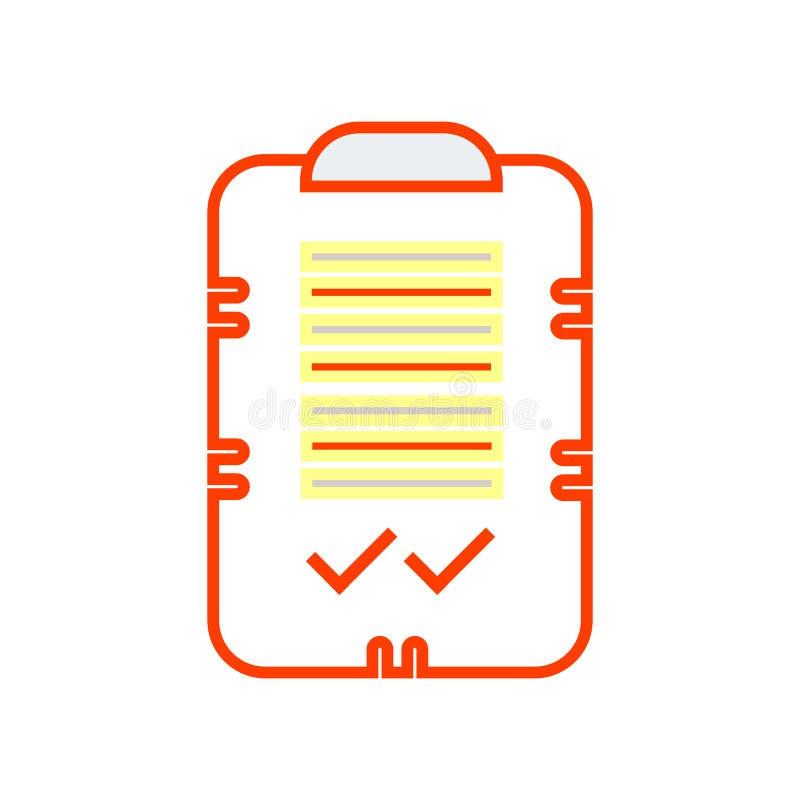 Muestra y símbolo del vector del icono de la marca de verificación aislados en el backgro blanco ilustración del vector