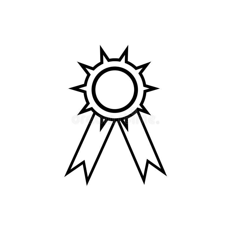 Muestra y símbolo del vector del icono de la medalla del fútbol americano aislados en el fondo blanco, concepto del logotipo de l stock de ilustración