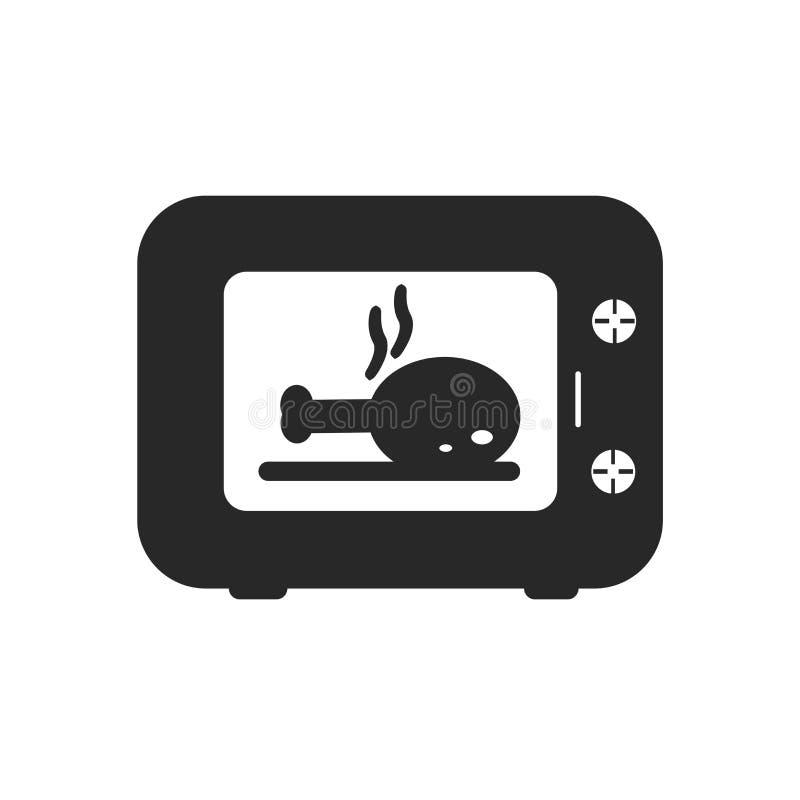 Muestra y símbolo del vector del icono de la microonda aislados en el fondo blanco, concepto del logotipo de la microonda libre illustration