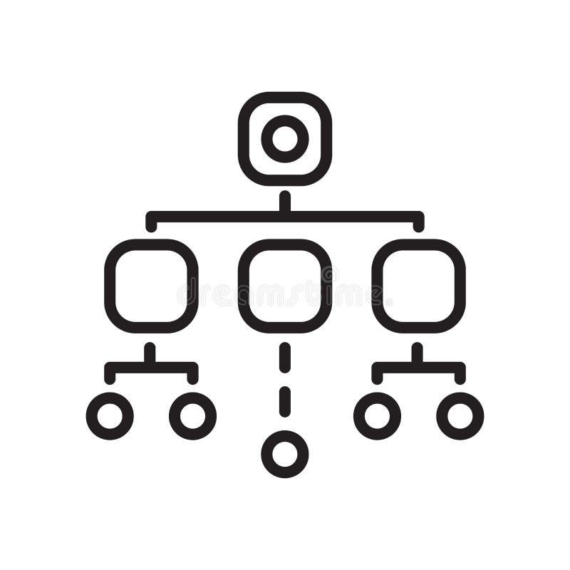 Muestra y símbolo del vector del icono de la organización aislados en el backg blanco ilustración del vector