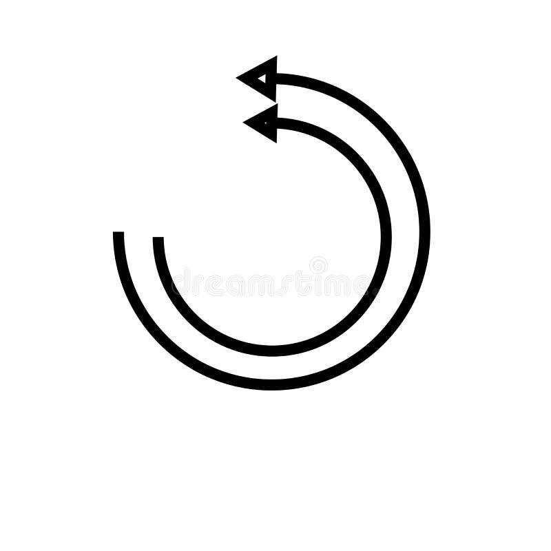 Muestra y símbolo del vector del icono de la página web de la recarga aislados en el fondo blanco, concepto del logotipo de la pá stock de ilustración