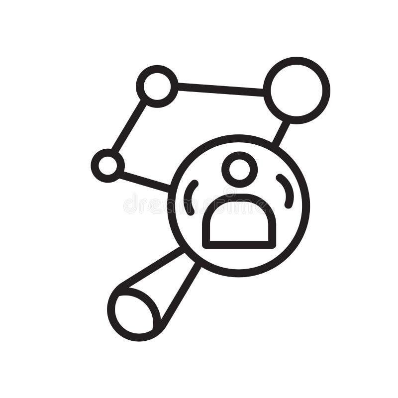 Muestra y símbolo del vector del icono de la penetración aislados en el fondo blanco stock de ilustración
