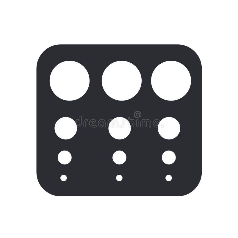 Muestra y símbolo del vector del icono de la tabla del control de vista aislados en el fondo blanco, concepto del logotipo de la  libre illustration