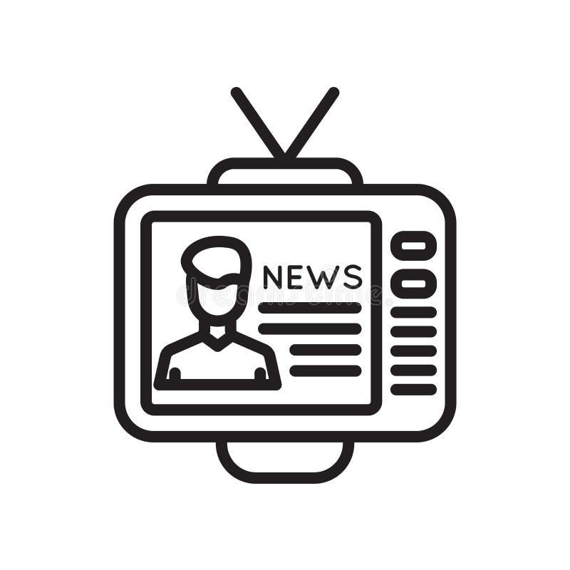 Muestra y símbolo del vector del icono de la televisión aislados en el fondo blanco, concepto del logotipo de la televisión ilustración del vector