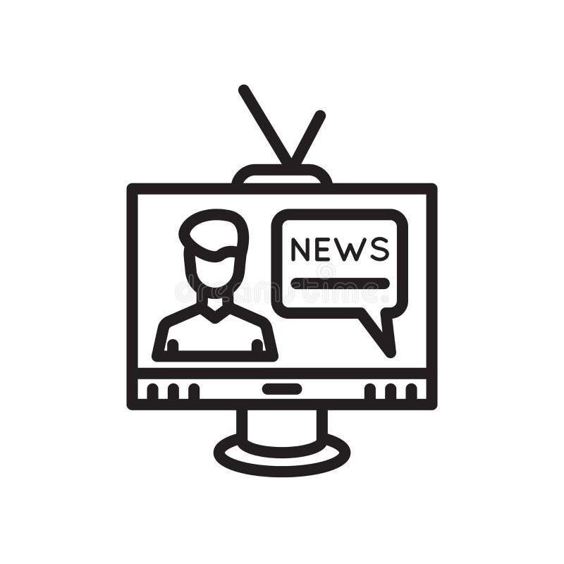 Muestra y símbolo del vector del icono de la televisión aislados en el fondo blanco, concepto del logotipo de la televisión libre illustration