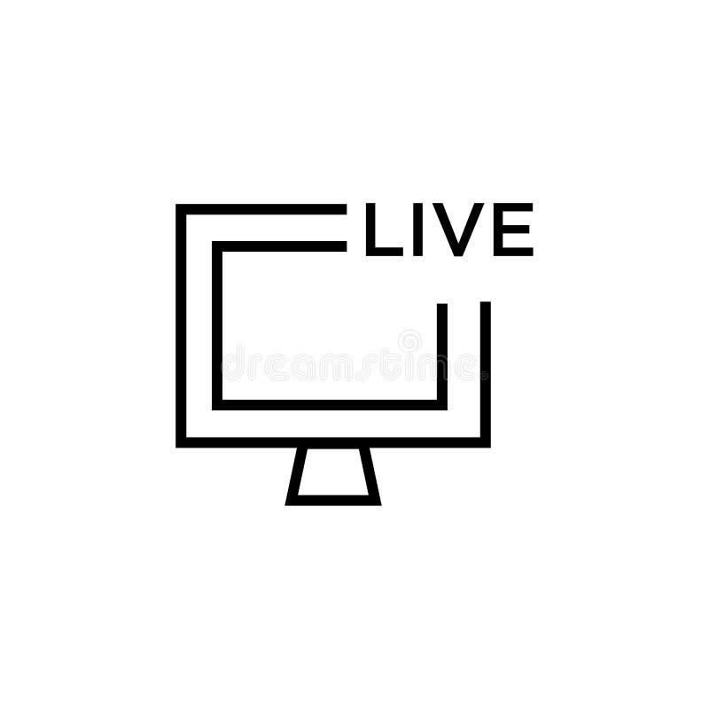 Muestra y símbolo del vector del icono de la televisión del fútbol americano aislados en el fondo blanco, concepto del logotipo d libre illustration