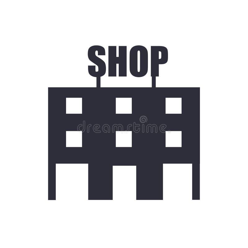 Muestra y símbolo del vector del icono de la tienda aislados en el fondo blanco, concepto del logotipo de la tienda stock de ilustración