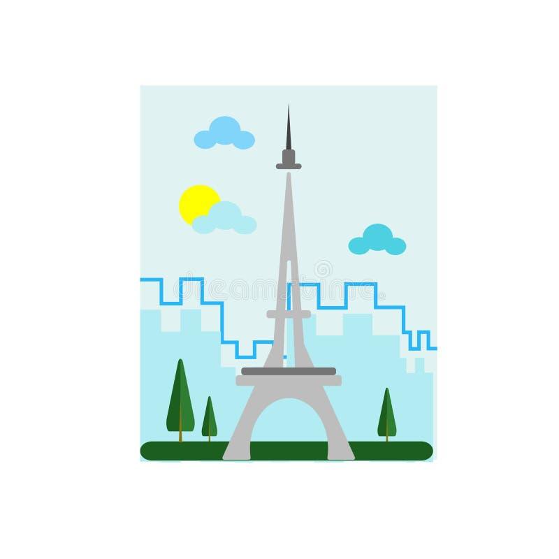 Muestra y símbolo del vector del icono de la torre de Tokio aislados en el backgr blanco stock de ilustración