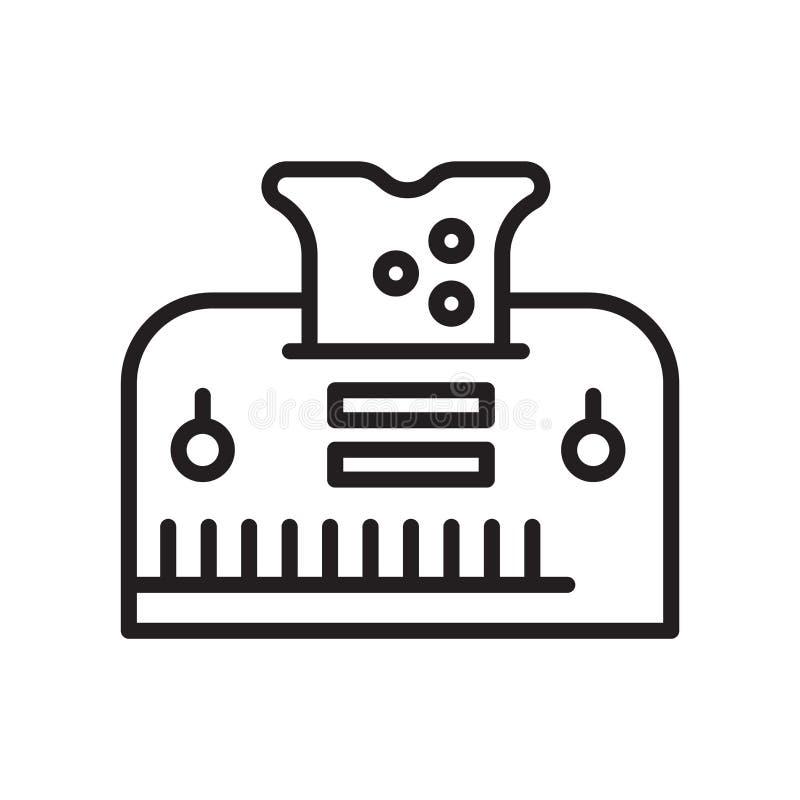 Muestra y símbolo del vector del icono de la tostadora aislados en el fondo blanco libre illustration