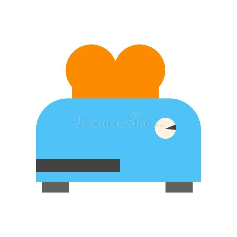 Muestra y símbolo del vector del icono de la tostadora aislados en el fondo blanco, concepto del logotipo de la tostadora stock de ilustración
