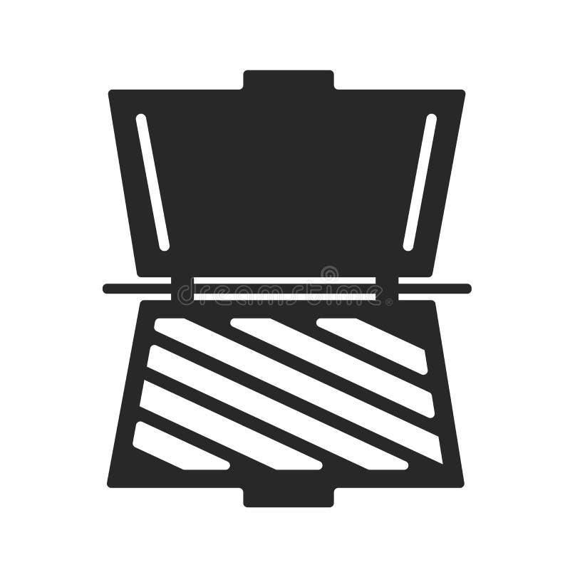 Muestra y símbolo del vector del icono de la tostadora aislados en el fondo blanco, concepto del logotipo de la tostadora ilustración del vector