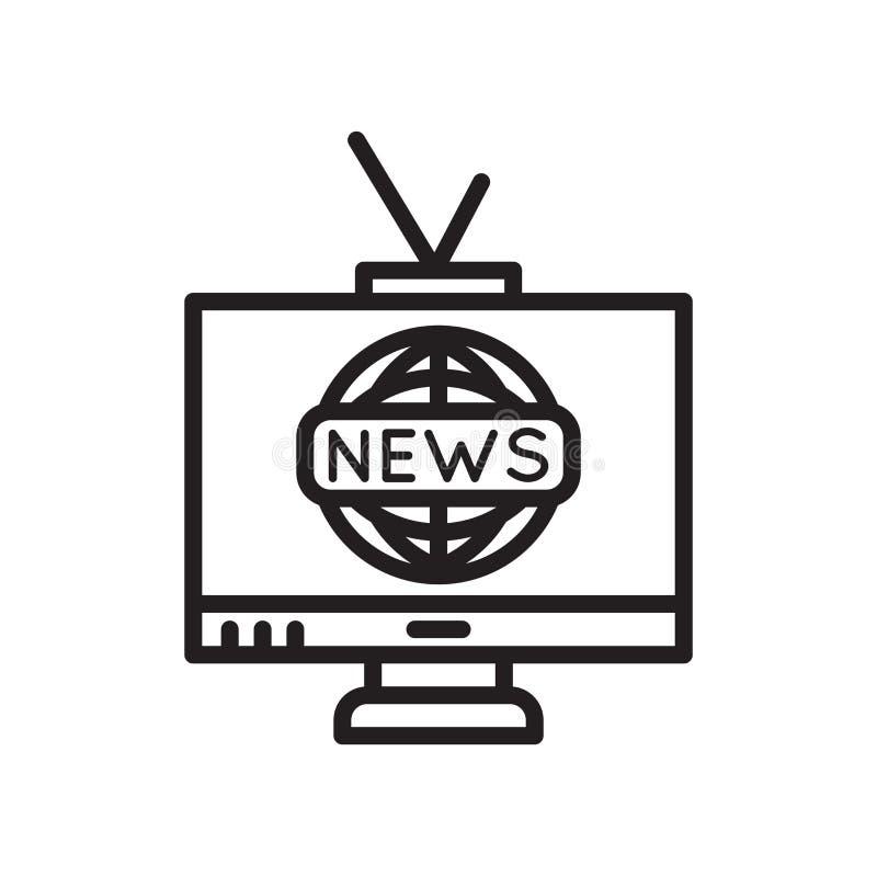 Muestra y símbolo del vector del icono de la TV aislados en el fondo blanco, concepto del logotipo de la TV libre illustration