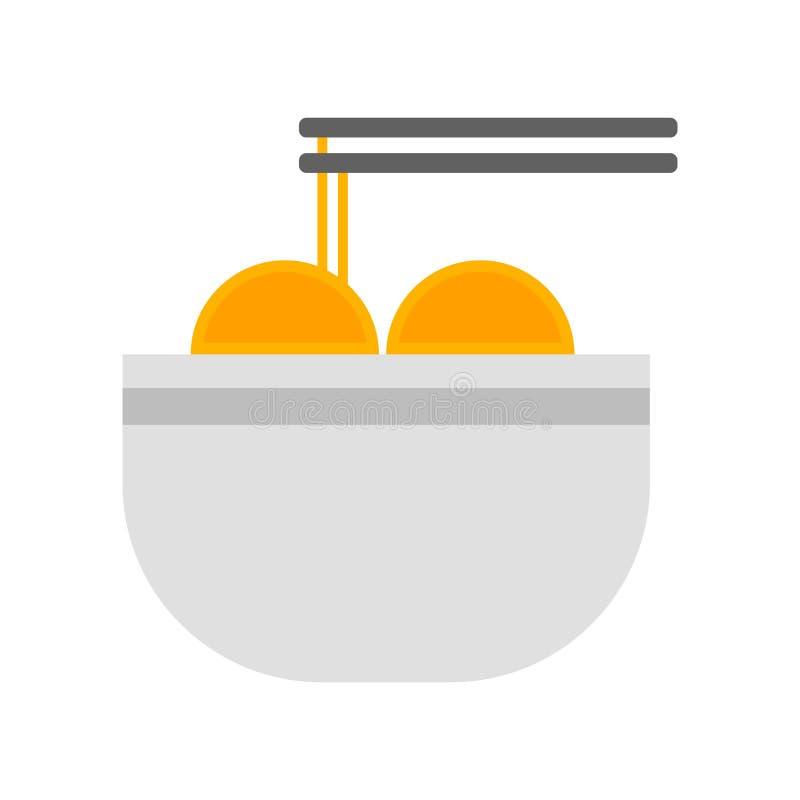 Muestra y símbolo del vector del icono de las pastas aislados en el fondo blanco, concepto del logotipo de las pastas stock de ilustración