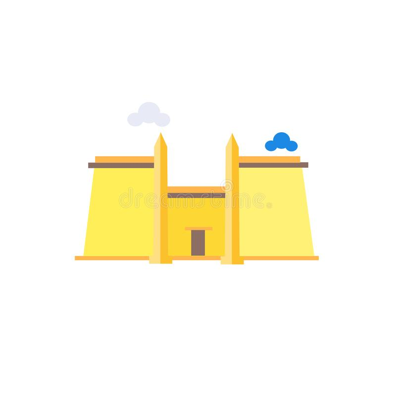 Muestra y símbolo del vector del icono de Luxor Temple aislados en el backg blanco libre illustration