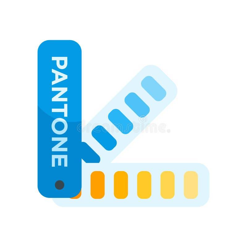 Muestra y símbolo del vector del icono de Pantone aislados en el fondo blanco libre illustration