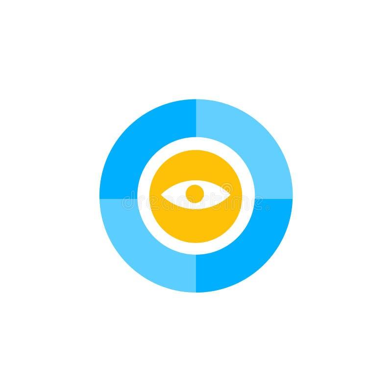 Muestra y símbolo del vector del icono de Pantone aislados en el fondo blanco, concepto del logotipo de Pantone ilustración del vector