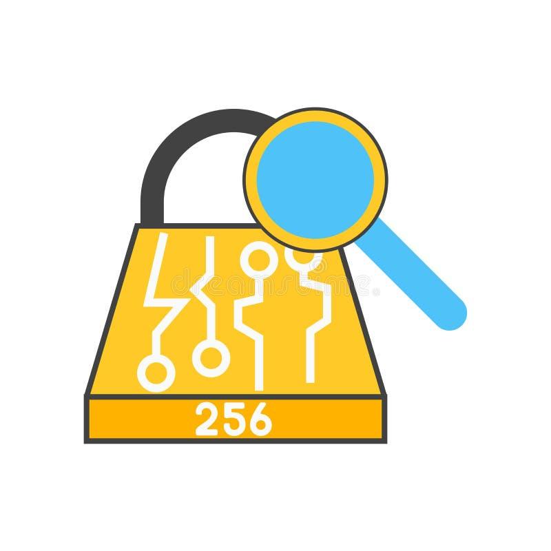 Muestra y símbolo del vector del icono de Sha 2 aislados en el fondo blanco, concepto del logotipo de Sha 2 stock de ilustración