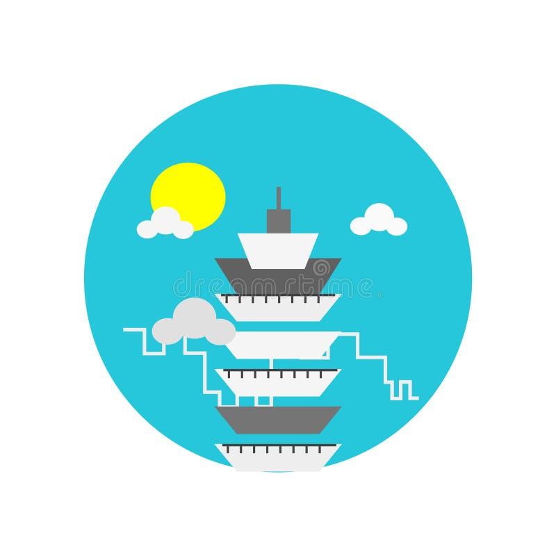 Muestra y símbolo del vector del icono de Taipei 101 aislados en el backgro blanco stock de ilustración