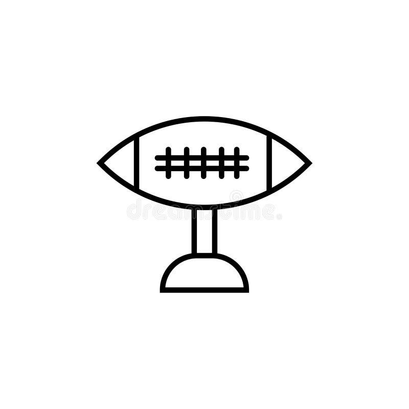 Muestra y símbolo del vector del icono de Trophey del fútbol americano aislados en el fondo blanco, concepto del logotipo de Trop ilustración del vector