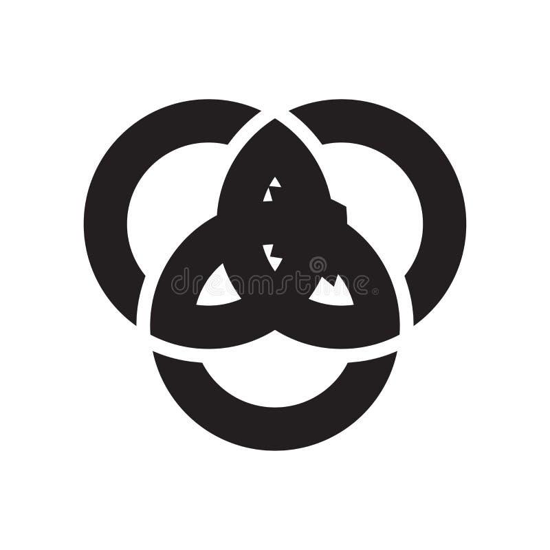 Muestra y símbolo del vector del icono del diagrama de Venn aislados en el backg blanco libre illustration