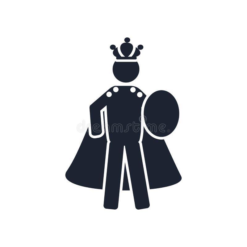 Muestra y símbolo del vector del icono del emperador aislados en el fondo blanco ilustración del vector
