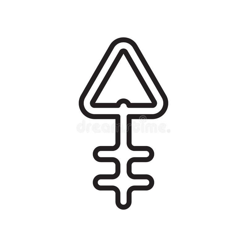 Muestra y símbolo del vector del icono del fósforo aislados en el backgro blanco libre illustration