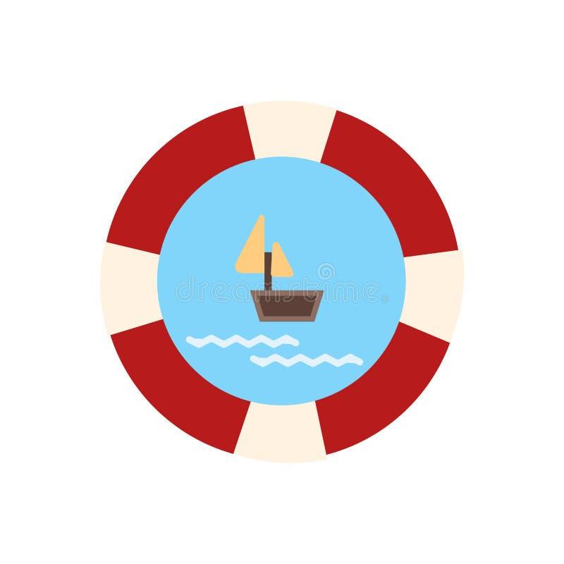 Muestra y símbolo del vector del icono del flotador aislados en el fondo blanco, concepto del logotipo del flotador libre illustration