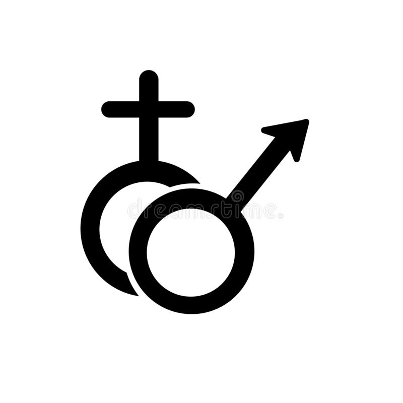 Muestra y símbolo del vector del icono del género aislados en el fondo blanco, concepto del logotipo del género libre illustration
