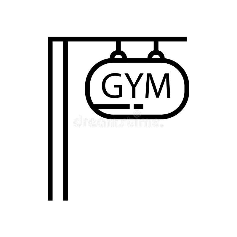 Muestra y símbolo del vector del icono del gimnasio aislados en el fondo blanco, concepto del logotipo del gimnasio libre illustration