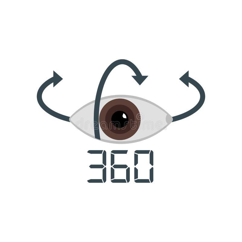 Muestra y símbolo del vector del icono del gráfico de sectores aislados en el backgrou blanco libre illustration
