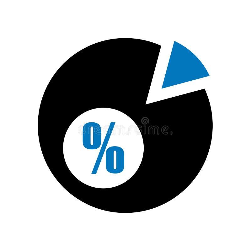 Muestra y símbolo del vector del icono del gráfico de sectores aislados en el fondo blanco, concepto del logotipo del gráfico de  ilustración del vector