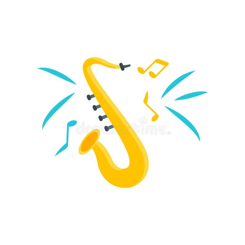 Muestra y símbolo del vector del icono del jazz aislados en el fondo blanco, J stock de ilustración