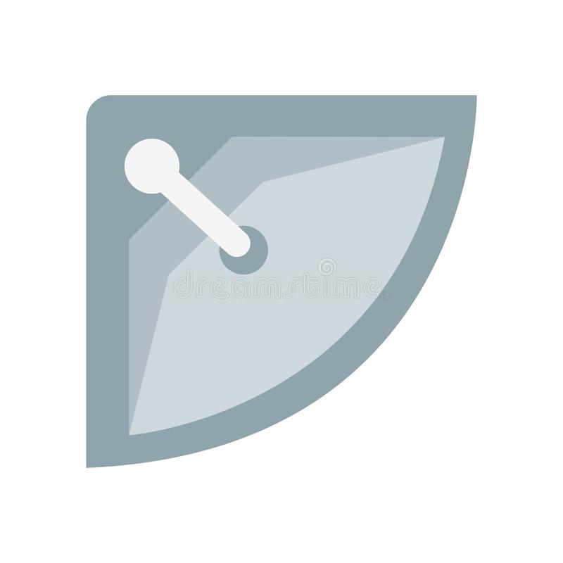 Muestra y símbolo del vector del icono del lavabo aislados en el backgrou blanco ilustración del vector