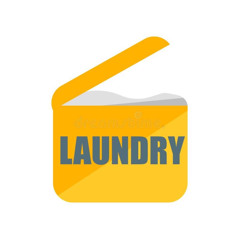 Muestra y símbolo del vector del icono del lavadero aislados en el fondo blanco, concepto del logotipo del lavadero stock de ilustración