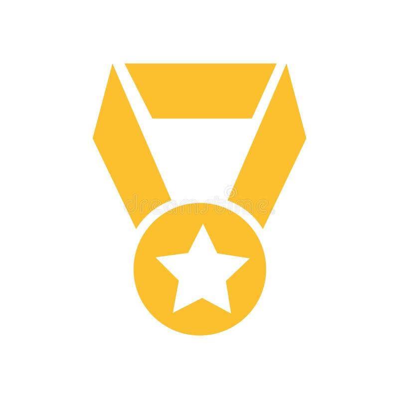 Muestra y símbolo del vector del icono del logro aislados en el fondo blanco, concepto del logotipo del logro ilustración del vector