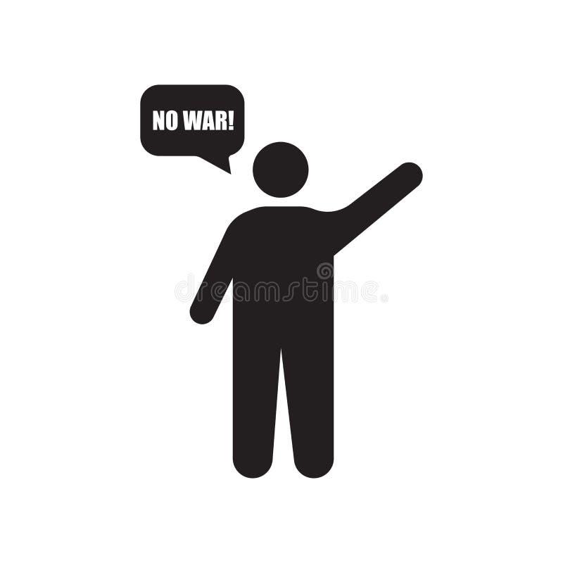 Muestra y símbolo del vector del icono del manifestante aislados en el fondo blanco, concepto del logotipo del manifestante libre illustration