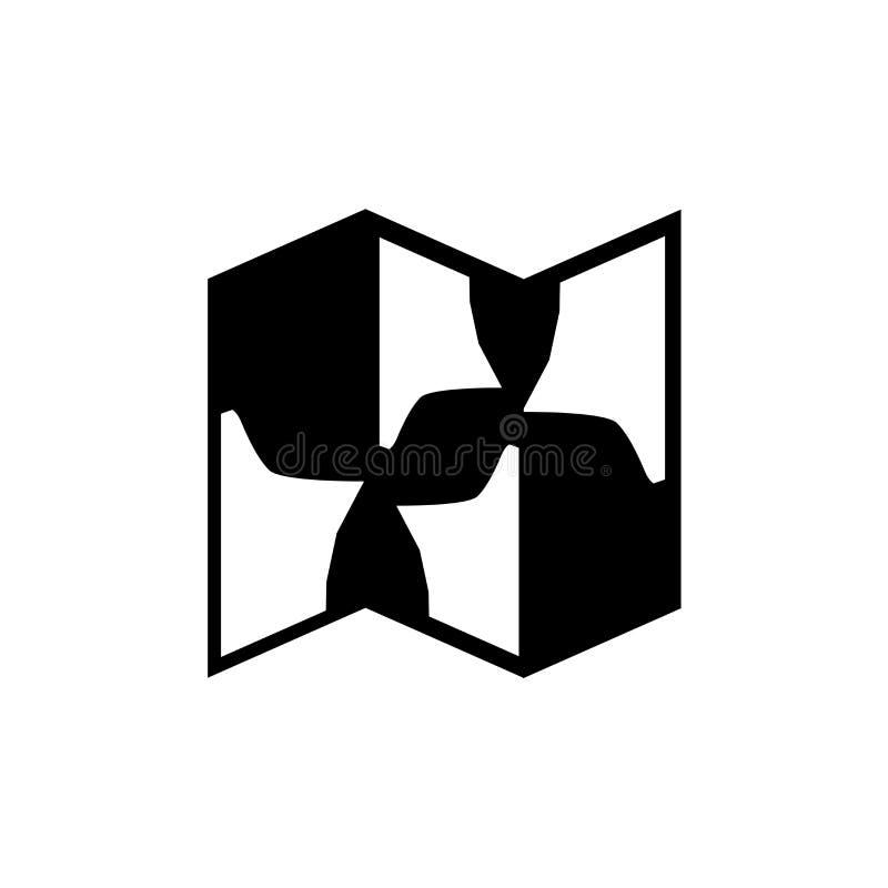 Muestra y símbolo del vector del icono del mapa del tesoro aislados en el fondo blanco, concepto del logotipo del mapa del tesoro ilustración del vector