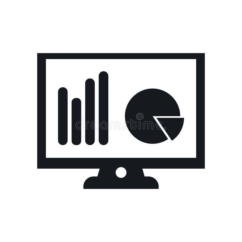 Muestra y símbolo del vector del icono del monitor aislados en el fondo blanco, concepto del logotipo del monitor ilustración del vector